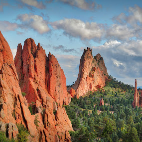 Garden of the Gods by Chuck Mason - Landscapes Mountains & Hills ( mountains, colorado, red rocks, landscape )