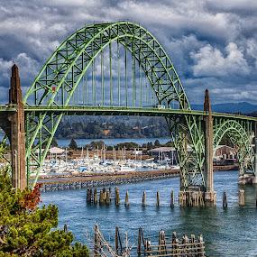 Newport Bridge by Debbie Slocum Lockwood - Buildings & Architecture Bridges & Suspended Structures (  )