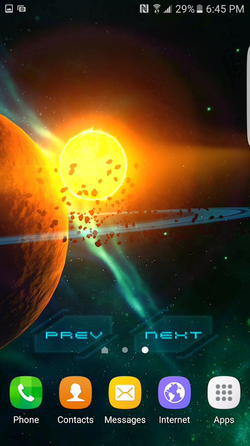 3D Galaxy Pack Live Wallpaper Screenshot 7