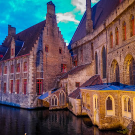 Brugges by Mihai Popa - City,  Street & Park  Night