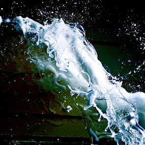 splash of foam by Adam Scarf - Abstract Fine Art ( fast shutter, foam )