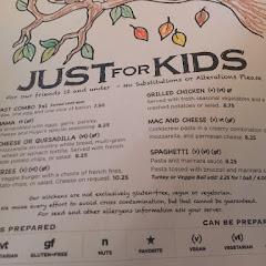 Hugos gffriendly amazing menu includes celiac kids so well