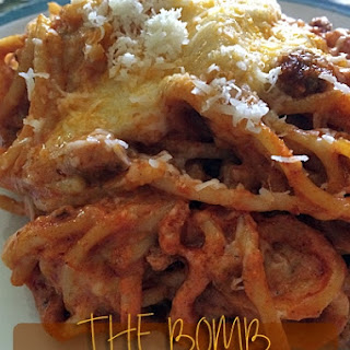 The BOMB Baked Spaghetti