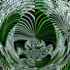 Pretty Green Orb by Yvonne Collins - Digital Art Abstract ( edited, abstract, green orb, digital art, photography )