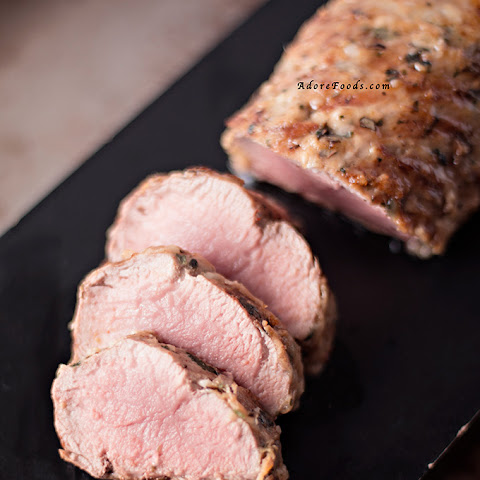 Juicy Pork Tenderloin with Parmesan Crust