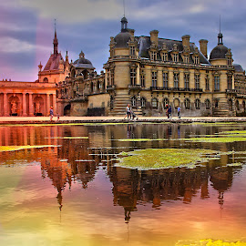 Chantilly reflexion by Gérard CHATENET - City,  Street & Park  Historic Districts