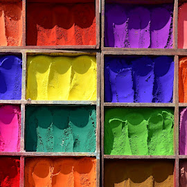 Sixteen Colours by Marcel Cintalan - Artistic Objects Other Objects ( different, powders, colours,  )