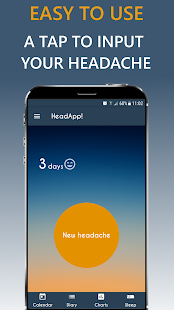 HeadApp Pro Headache, Migraine Diary screenshot for Android