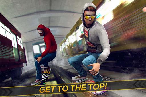 Subway Skateboard Ride Tricks - Extreme Skating screenshot 1