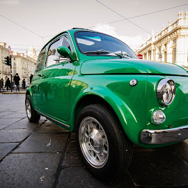 Green power by Florin  Galan - Transportation Automobiles ( car, green, street, turin, fiat, transportation )