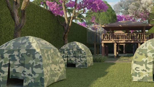 Perspectiva da Área de Camping