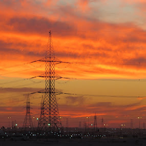 sunset by Yahia  husain - Landscapes Sunsets & Sunrises ( desert, sunsets, sunset, sun )