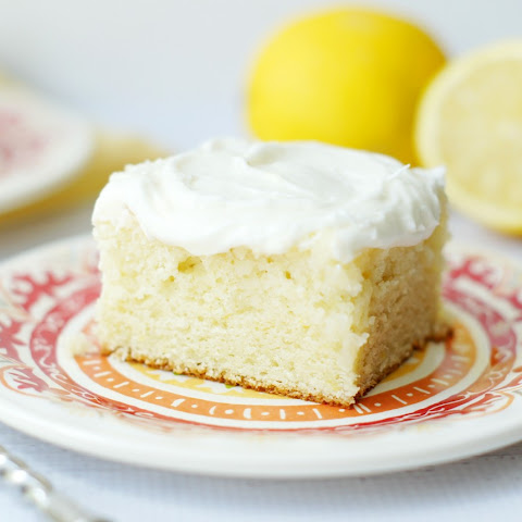 Lemon Cake with Sour Cream Lemon Icing