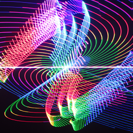 Laser design by Jim Barton - Abstract Patterns ( laser light, colorful, light design, laser design, laser, laser art, laser light show, light, science )