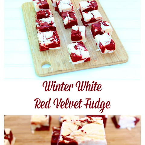 Winter White Red Velvet Fudge.