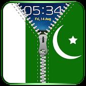 Pakistani Flag Zipper Lock APK for Bluestacks