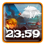 Halloween Weather Clock Widget file APK Free for PC, smart TV Download