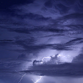DBS Lightning by Kathleen Preston - Landscapes Weather ( clouds, lightning, waterscape, weather, night, ocean, extreme weather )