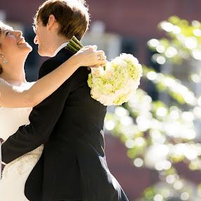 laugh by Drew Noel - Wedding Bride & Groom ( drew noel photography )