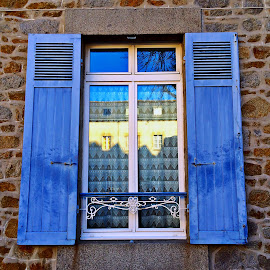 Window by Dobrin Anca - Buildings & Architecture Architectural Detail ( sky, window, blue, st brieuc, street )