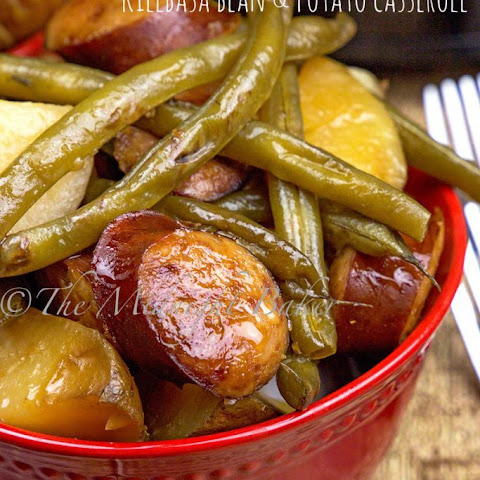Kielbasa Green Bean and Potato Casserole