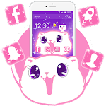 Kawaii Cute kitty Cat Theme Icon
