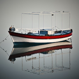 Delphini Rising by George Petropoulos - Transportation Boats ( calmness, fishing boat )