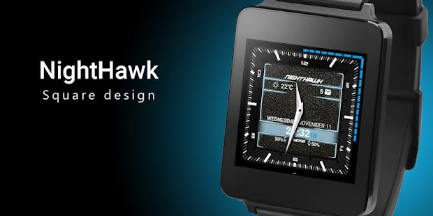 NightHawk Watch Face - screenshot