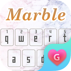 Download Cool Marble Keyboard Theme for Girls for PC