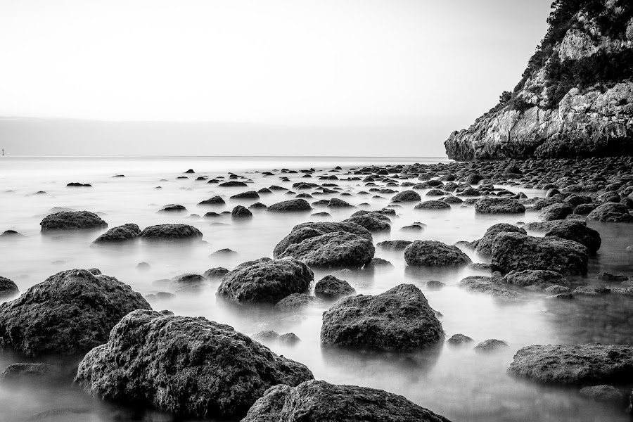 Rocky shade by José Borges - Landscapes Beaches ( water, long exposure, beach, sunrise, rocks )