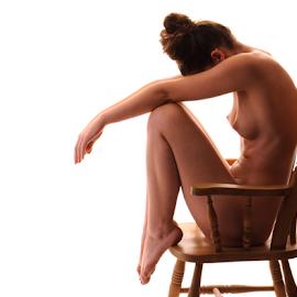 Madam Bink by Vineet Johri - Nudes & Boudoir Artistic Nude ( wodden chair, chair, art nude, silhouette, vkumar photography, madam bink, shadows )