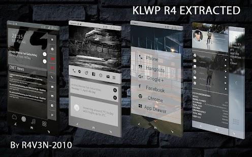 KLWP R4 Extracted Series - screenshot