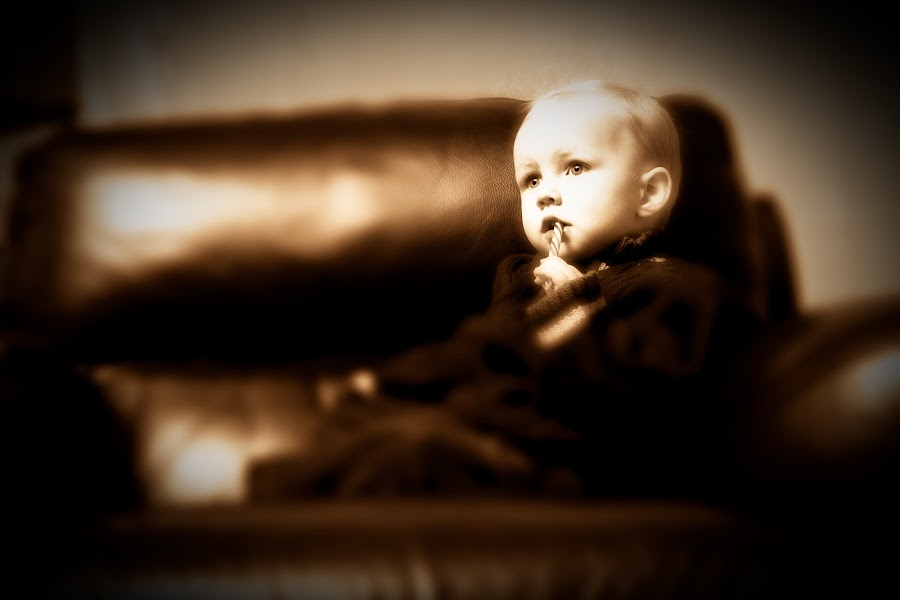 Candy by Mark Wingert - Babies & Children Children Candids ( sepia, funny, children, fun, cute, boy, serious )