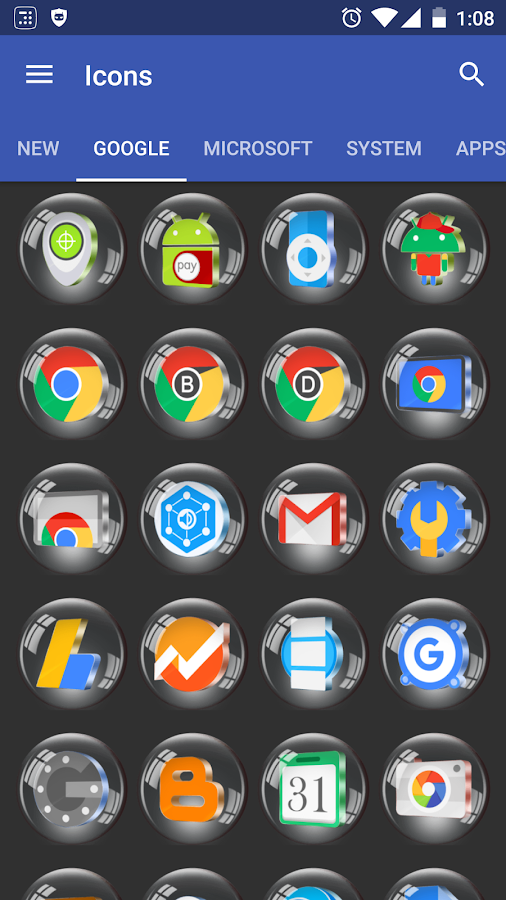 Glass 3D Icon Pack Screenshot 2