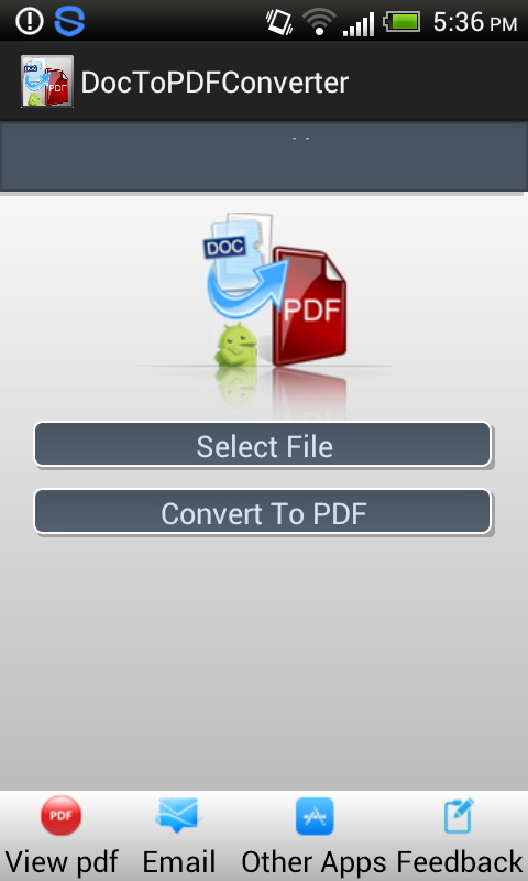 Doc to PDF Converter Pro Screenshot 0