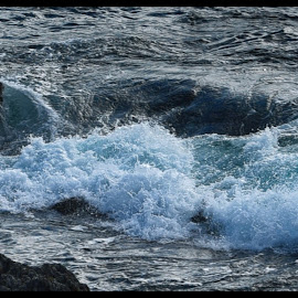 Ocean Crashing on Rocks  by Lorraine D.  Heaney - Nature Up Close Water