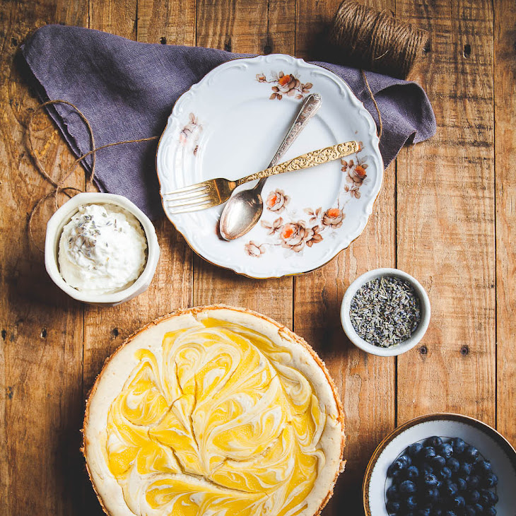 Lavender Lemon Curd Marbled Cheesecake Recipe | Yummly