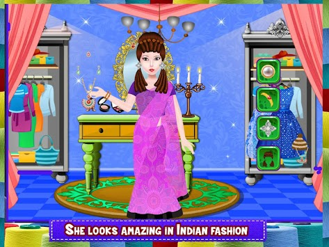 Indian Fashion Little Tailor Poster