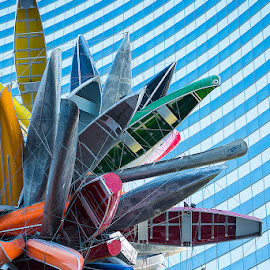 Canoe Flower by Eric Yiskis - Buildings & Architecture Statues & Monuments ( las vegas, sculpture, modern art, canoe, landscape,  )