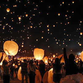 Rising Lanterns by Anwen Starich - People Street & Candids ( festival, lanterns, people )