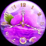 Purple Clock Live Wallpaper Icon