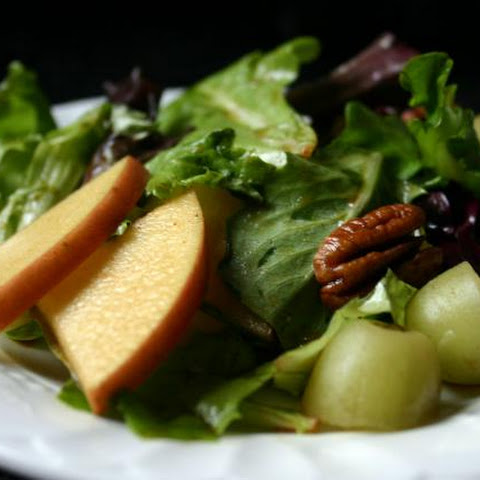 Korean Salad Recipe with Apples, Nuts, and Frozen Grapes