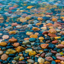 superior Beach by Darrin Ralph - Nature Up Close Rock & Stone ( rocks, lake superior, water, colorful )