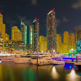 Yachts and Towers by Andy Arciga (www.arcigaandy.com) - Buildings & Architecture Office Buildings & Hotels ( city, night, , Urban, City, Lifestyle )