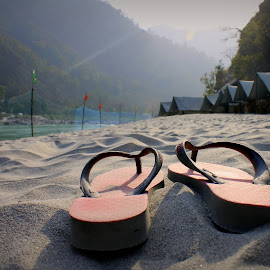 Empty-handed I entered the world , Barefoot I'll leave it.  by Vikas Sachdeva - Nature Up Close Sand