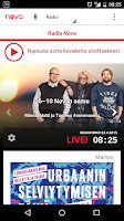 Screenshot of Radio Nova