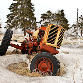 Tipsy by Pete Bouman - Transportation Other ( farm, winter, snow, frost, case, tractor,  )