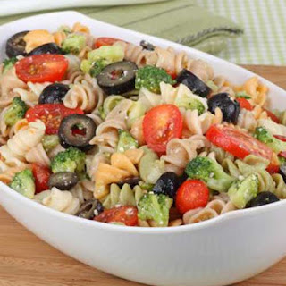 Rainbow Rotini Broccoli Salad