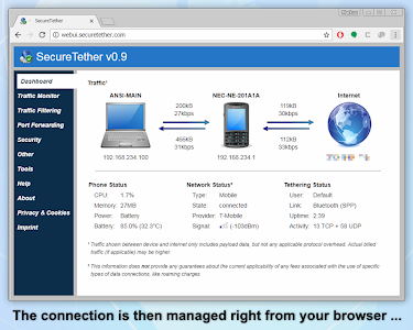 SecureTether - Secure no root Bluetooth tethering 0.9.3