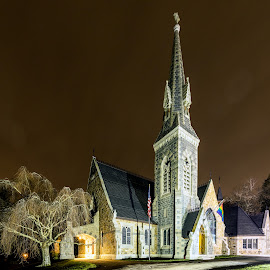 Easton Church by Carl Albro - Buildings & Architecture Places of Worship ( church, nighttime )